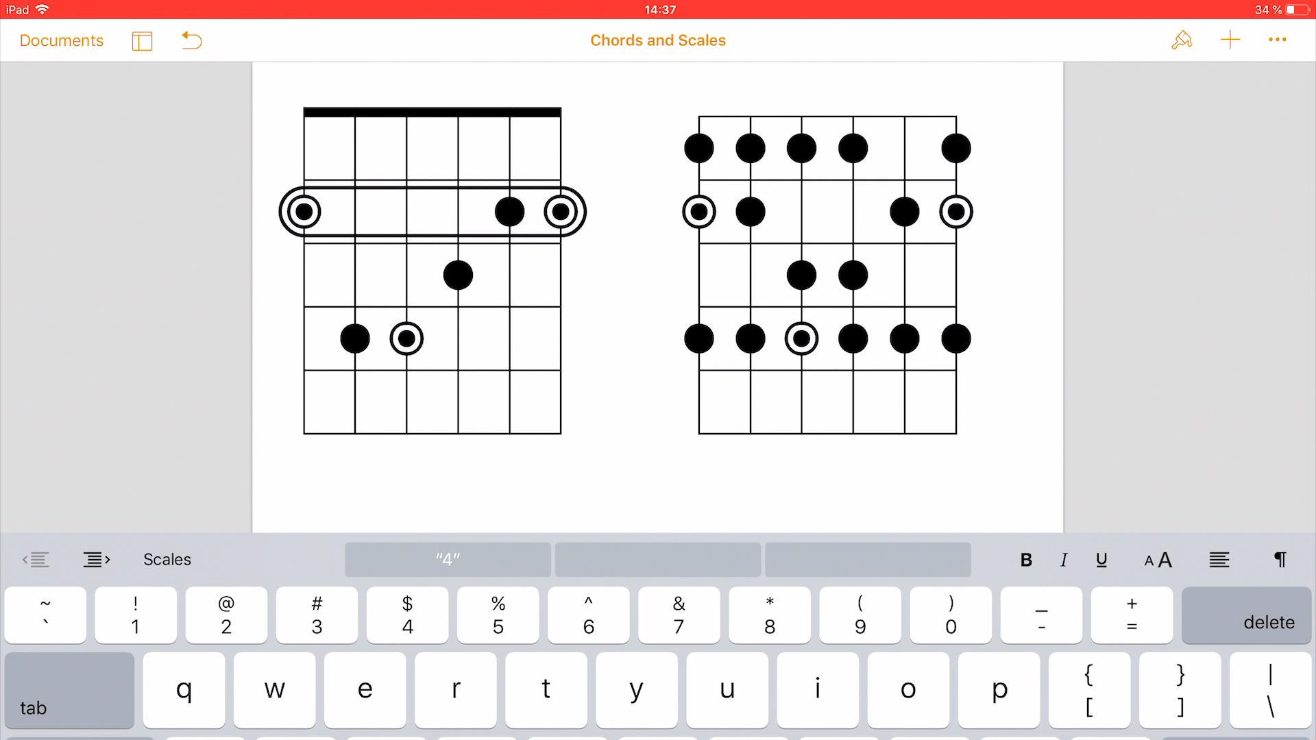 Chords And Scale Diagrams In Macos Ukulele Fretboard Diagram